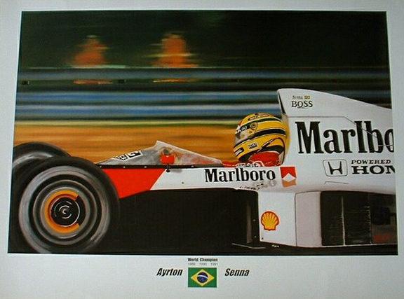 Ayrton Senna Print by Zsolt Nagy. Bargain price Senna print + 15% off now! Perfect gift! Use Coupon Code