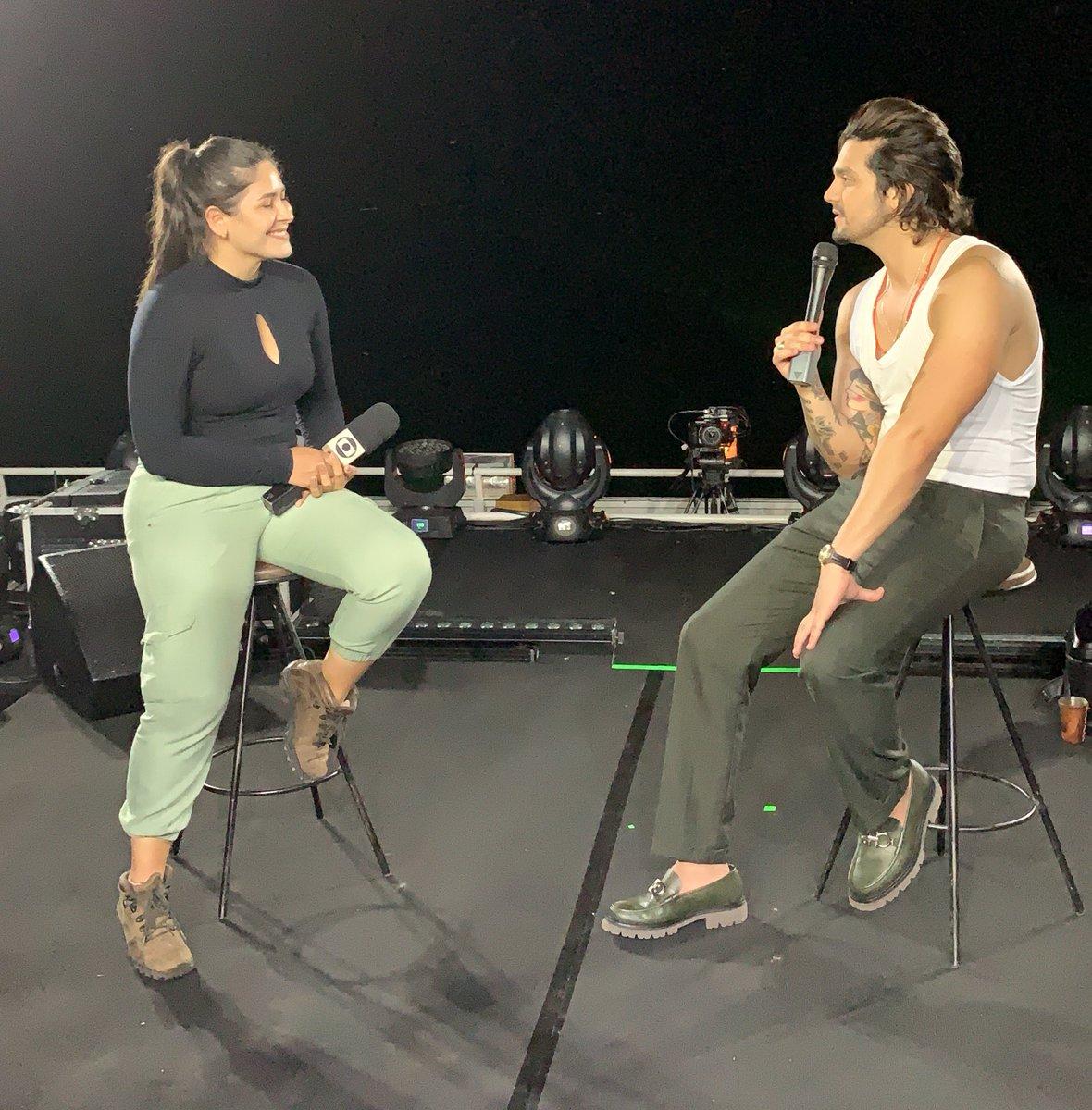 Luan agora dá uma entrevista para a TV Morena, afiliada da TV Globo no MS! Matéria em breve no ar #OPantanalChama
