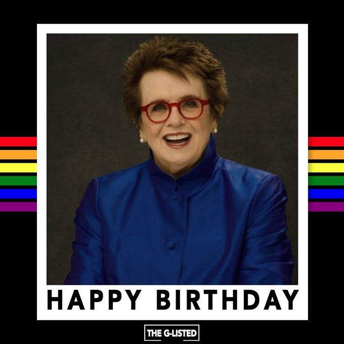 Happy birthday to the tennis legend Billie Jean King!