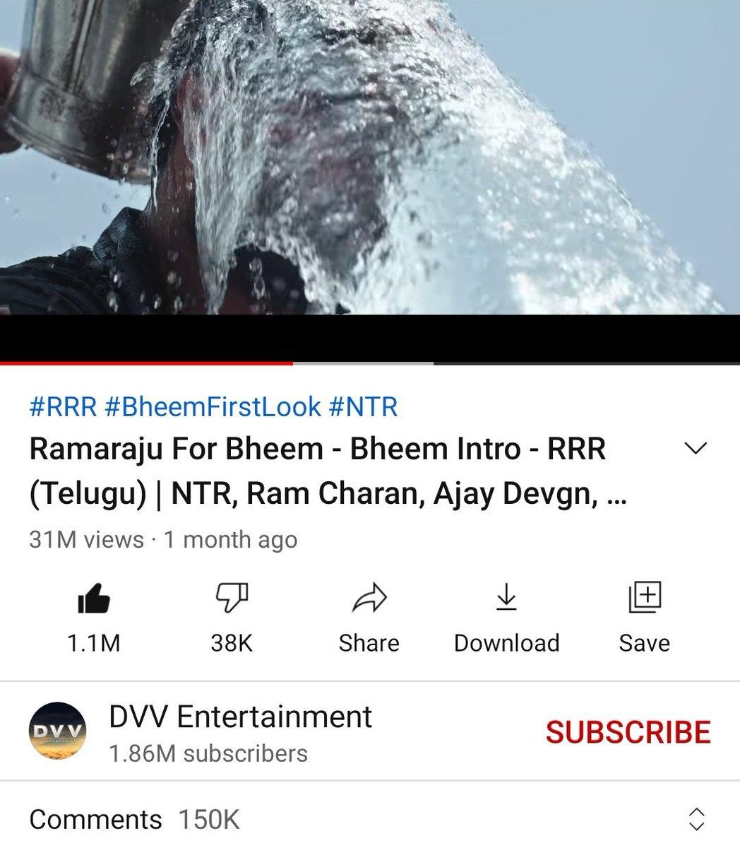 1️⃣5️⃣0️⃣ K comments done on #RamarajuForBheem   First and fastest 1️⃣5️⃣0️⃣K commented teaser in TFI   #KomaramBheemNTR    @tarak9999
