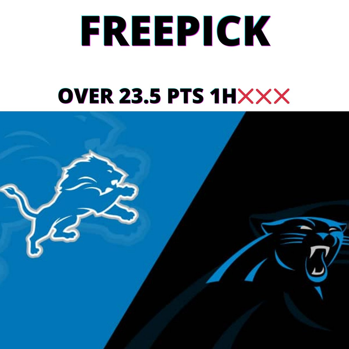 NFL SEMANA 11  FREEPICK  LIONS VS PANTHERS  OVER 23.5 PTS 1H❌❌❌  (-115)  #ApuestoConFuster https://t.co/TO9bJRTlLv
