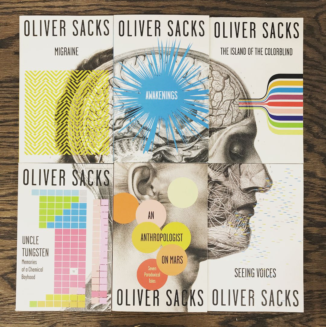 Have you seen how satisfyingly the full Oliver Sacks gift set from @vintagebooks fits together? . 📷: @stemcelltulsa
