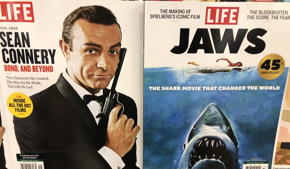 On the rack... #SeanConnery #JamesBond #Jaws 🦈 @LIFE @007 @thedailyjaws @jawscast75