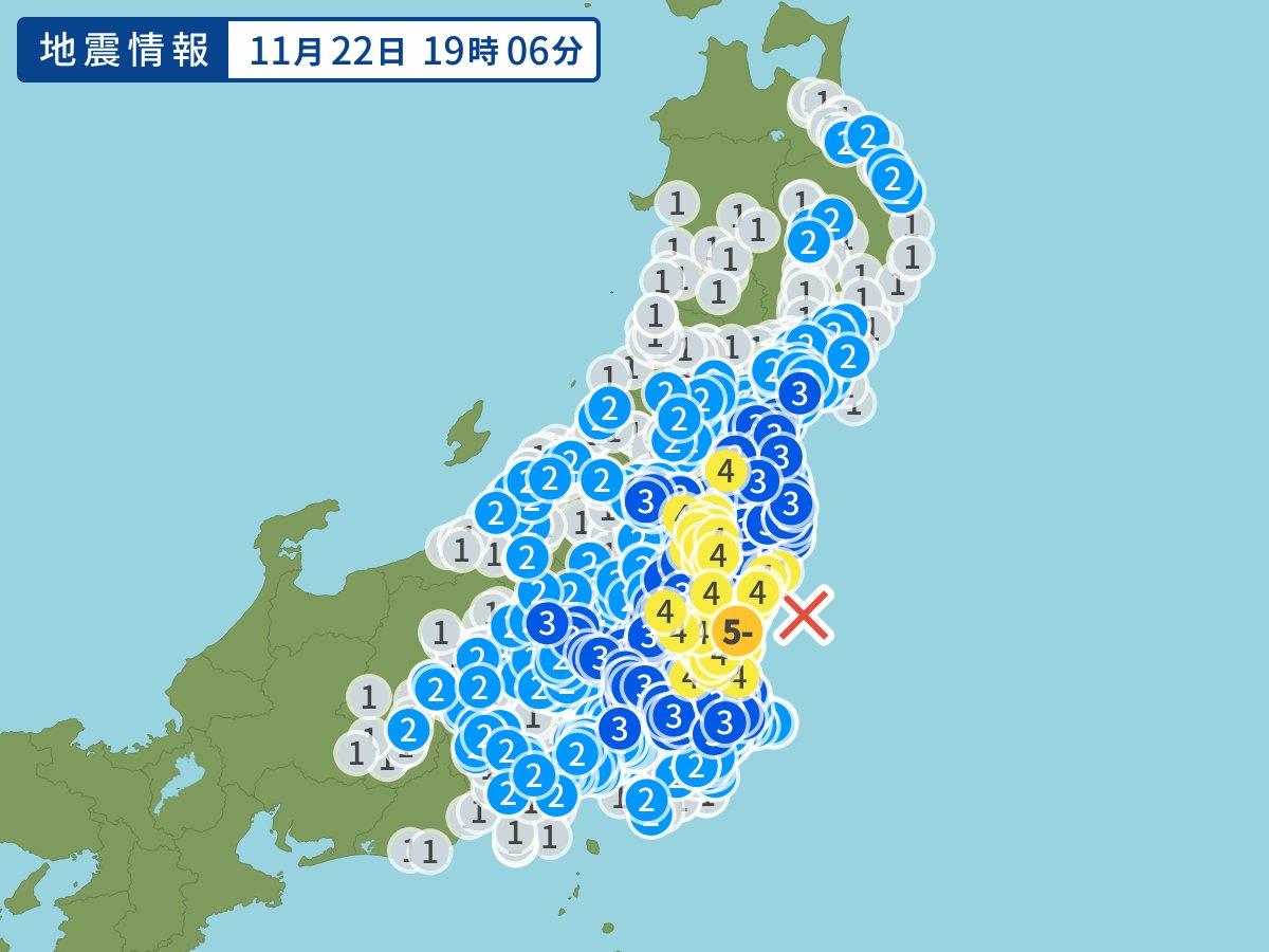 センサー 東京 地震