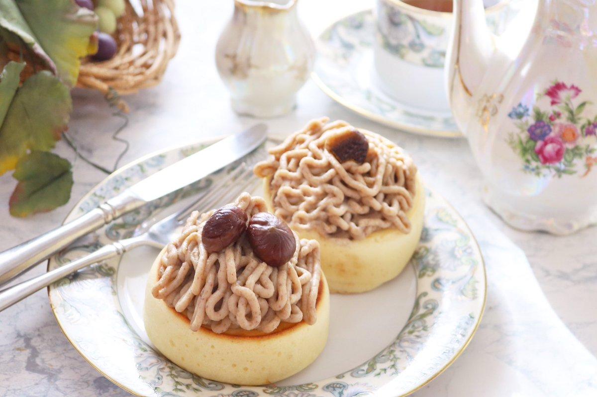 超簡単🌟モンブランパンケーキ🌰母の誕生日なので、何が食べたいか聞いたらヘルシーなモンブラン…笑と言われたので試行錯誤して生み出しました。我ながら美味💞母のお口にも合うといいな〜🙏レシピ👇#コッタ #料理好きな人と繋がりたい #おうちカフェ #モンブラン