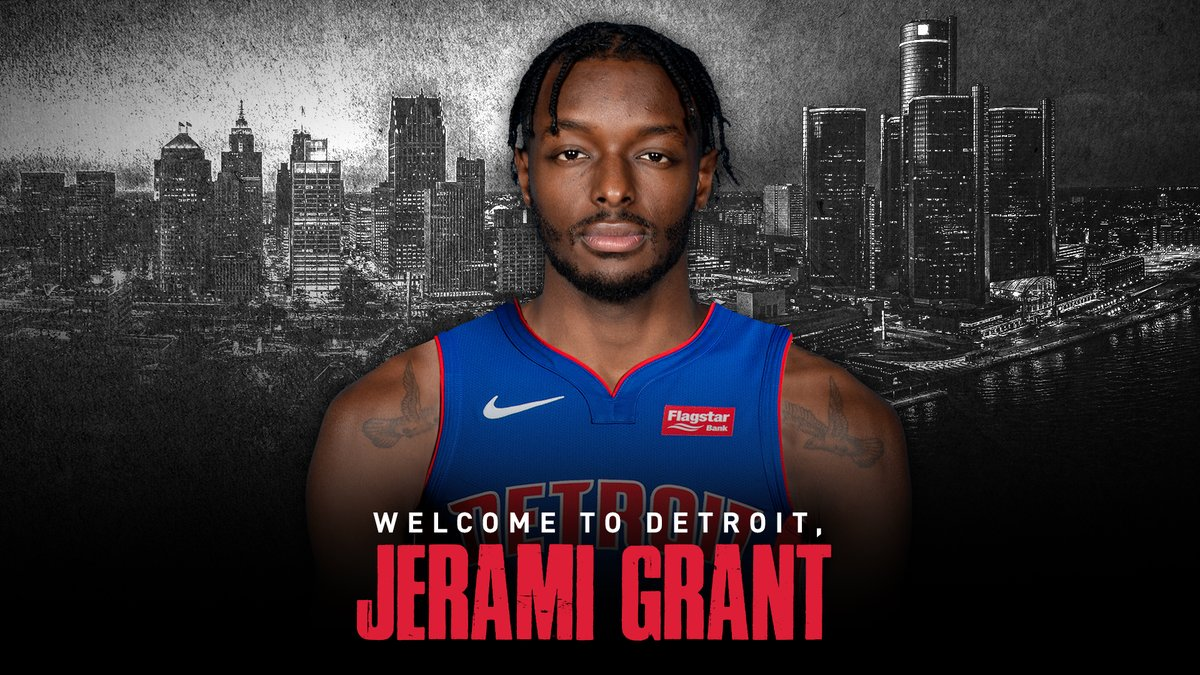 It's now 𝕠𝕗𝕗𝕚𝕔𝕚𝕒𝕝.  @JeramiGrant is a Piston! #DetroitUp