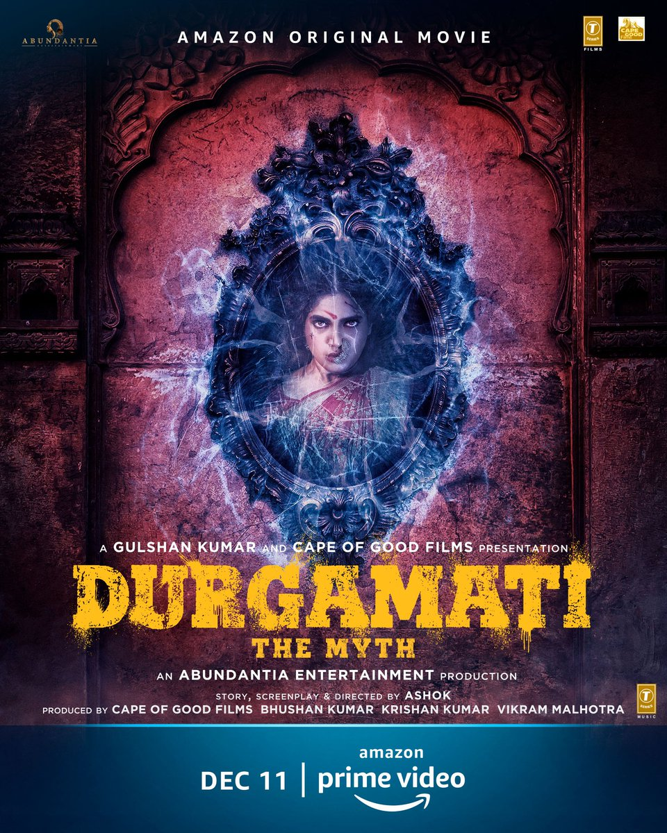 She's here to conquer. Meet #DurgamatiOnPrime on Dec 11, @PrimeVideoIN  @bhumipednekar @akshaykumar @ashokdirector2 #BhushanKumar @vikramix @TSeries @Abundantia_Ent @ArshadWarsi @Jisshusengupta @KapadiaKaran @ShikhaaSharma03 @Babitaashiwal