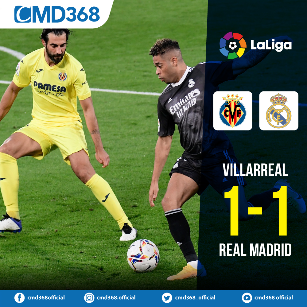 Villarreal 1-1 Real Madrid:  Real Madrid were pegged back in the second half to draw 1-1 against Villarreal, having taken the lead through Mariano after two minutes on Saturday.  #CMD368 #CMD368official #LaLiga #RealMadrid #VillarrealRealMadrid