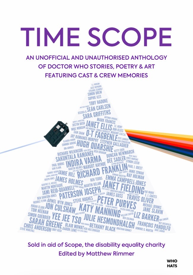 Do some good this #DoctorWhoDay & buy Time Scope, a charity anthology e-book containing 50 short stories interspersed with poetry, artwork & cast & crew memories. All proceeds go to disability equality charity Scope.  Order here:   #DoctorWho #TimeScope2020