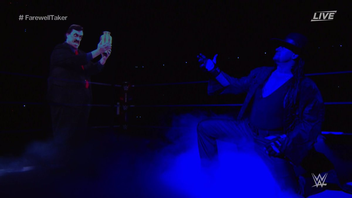 Replying to @WWE: THIS.  #SurvivorSeries #Undertaker30 #FarewellTaker
