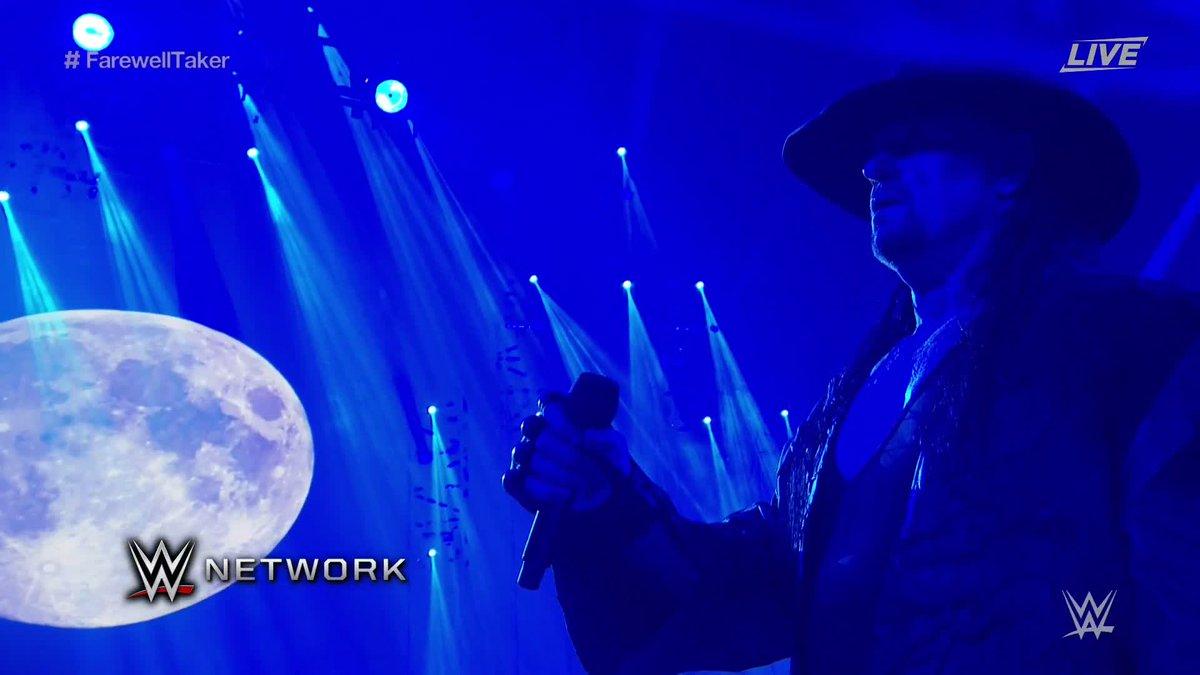 رسميًا: أسطورة المصارعة، The Undertaker، يعلن اعتزاله من الـ WWE في حدث Survivor Series ويقدم رسالته الأخيرة للجمهور أن وقتي قد حان لأترك الأندرتيكر يرقد بسلام.
