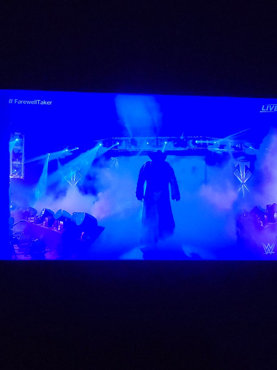 I'm not crying, you are freaking crying😢😢😢😢😢😢😢😢😢😢😢😢😢😢😢😢 #ThankYouTaker #FarewellTaker #Undertaker #AmericanBadAss #MarkCalloway #30YearsOfTaker #DeadManWalking #RestInPeace #PaulBearer