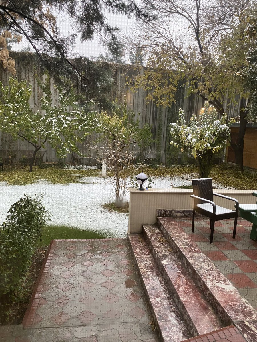 Woke up to a thin layer of #snow this morning in #Kabul