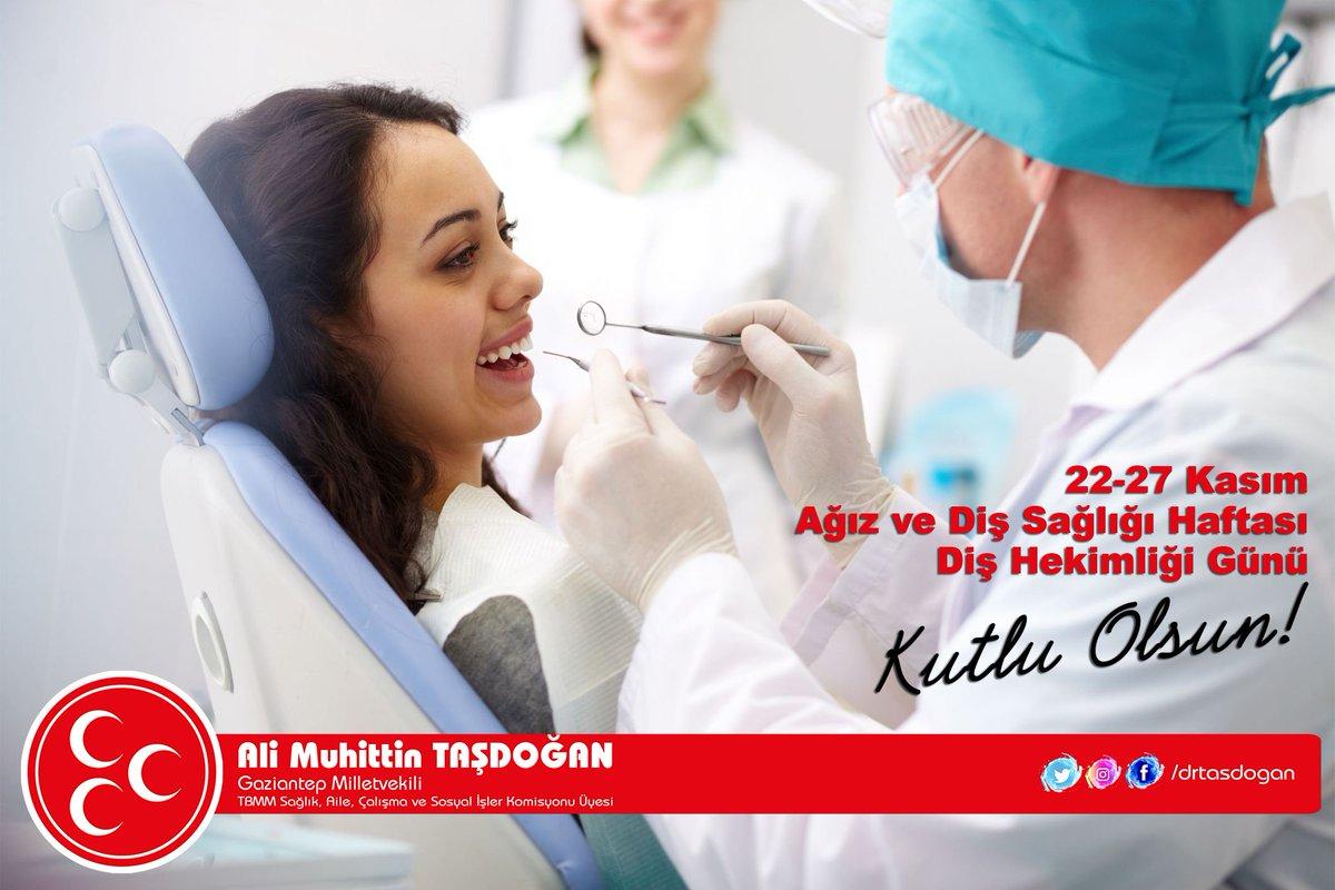 Diş Hekimleri Günü, Ağız ve Diş Sağlığı Haftası kutlu olsun...  #AliMuhittinTasdogan https://t.co/vJFJpI9Kvt