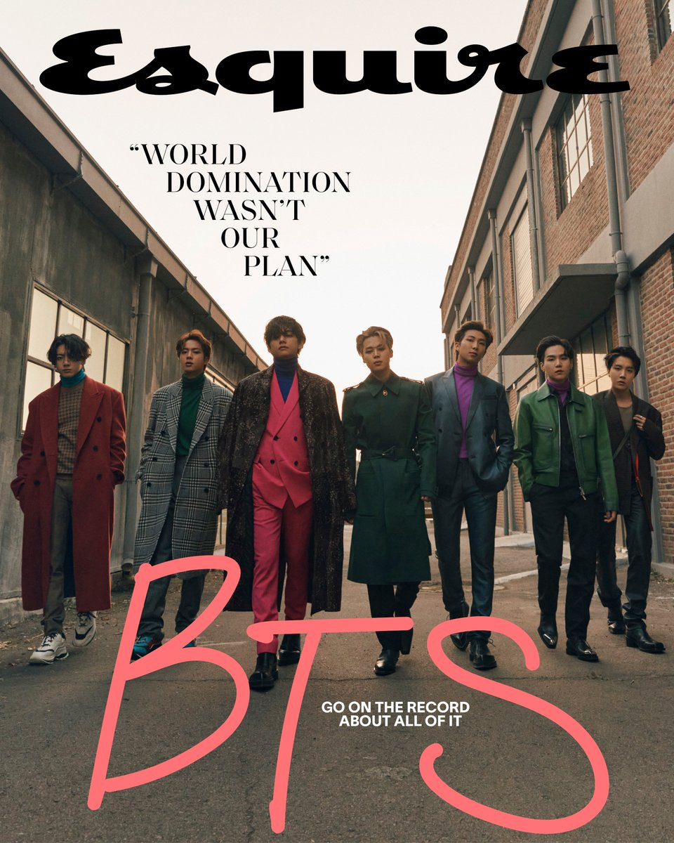 Introducing Esquire's Winter cover starring @BTS_twt. The biggest band in the world has ascended to the peak of pop, redefined fame, and challenged traditional masculinity. So what do they want now? They told @DaveHolmes all about it.