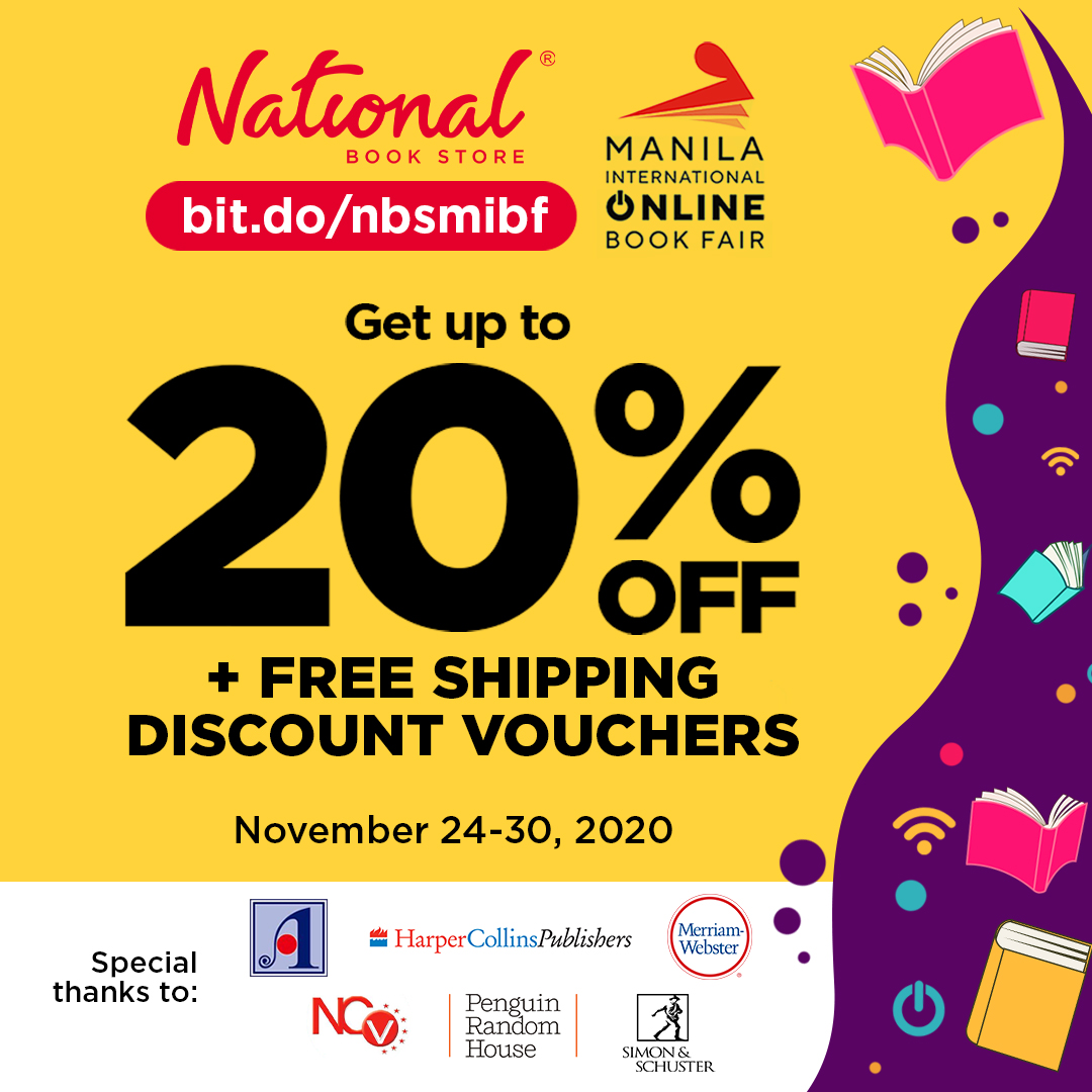 Get ready for the Manila International Online Book Fair! Shop and get up to 20% OFF on books + FREE shipping discount vouchers from National Book Store: . #NBS2020MIBF #MIBF2020 #MIBFOnline #MIBF #NBSevents #NBSbookstagram #NSBsale #NBSeveryday