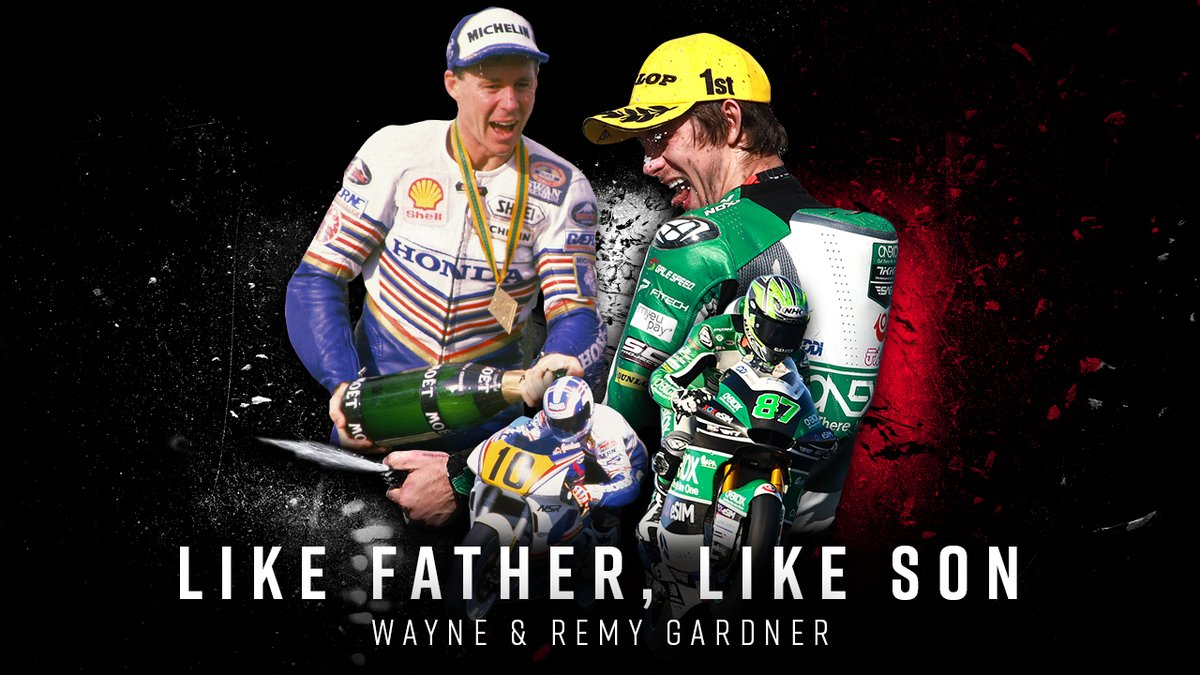 Replying to @ausmotogp: Talent runs in the family 👨👦 @GardnerRemy joins his father @TheWayneGardner as a Grand Prix winner 🏆 #PortugueseGP #Moto2