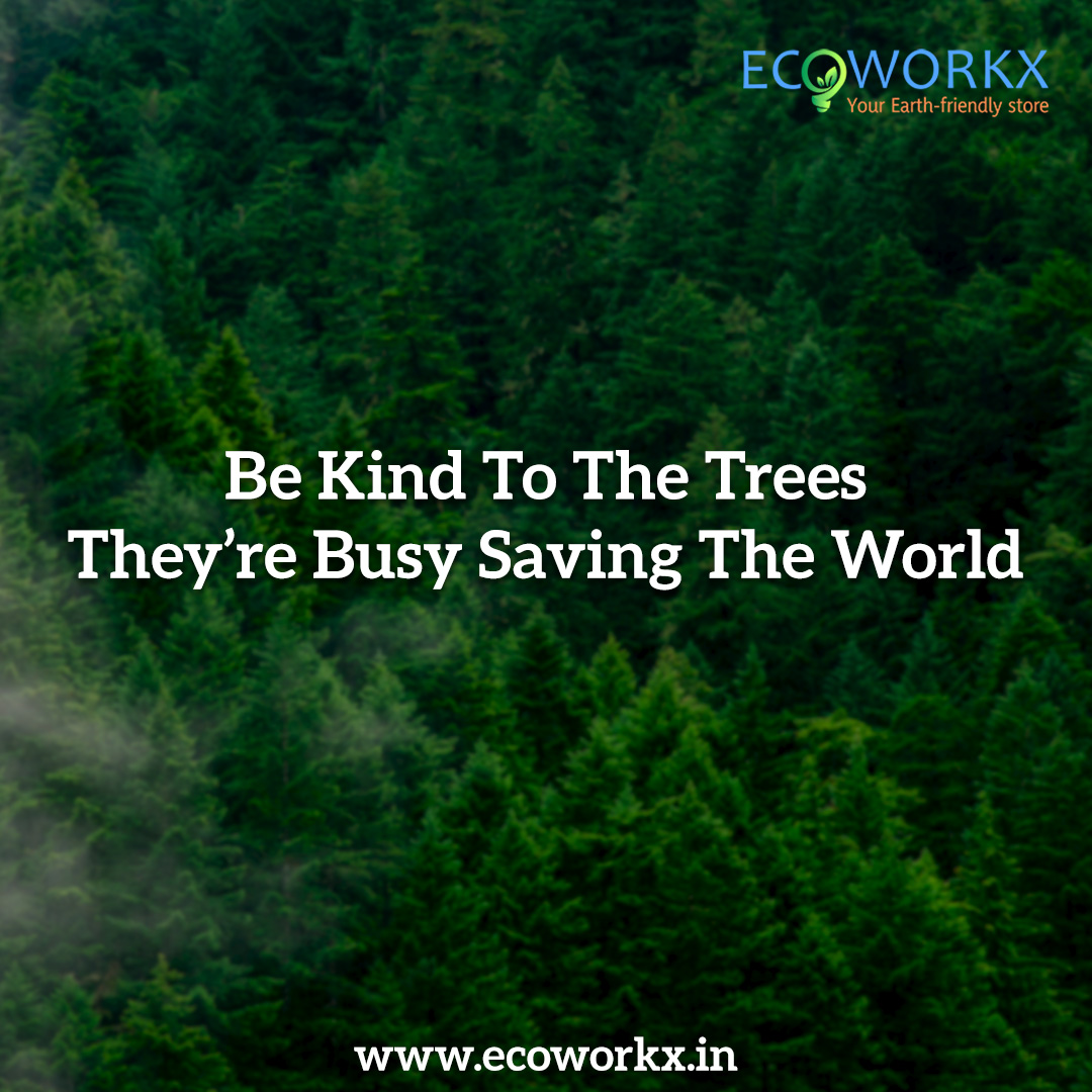 Be Kind to the #Trees. They are Busy #Saving the world.   #savetrees #ecoworkx #nature #planttrees #environment  #ClimateChange #greenindiachallenge #SaveEarth #SaveEnvironment #SaveTrees #DontCutTrees #trees #plantatree #greener #green #ecoproducts #ecofriendly