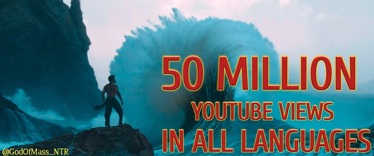 50 Million YT Views in All Languages!! 👊  @tarak9999 #KomaramBheemNTR  #RRRMovie #RamarajuforBheem   Watch Here :-