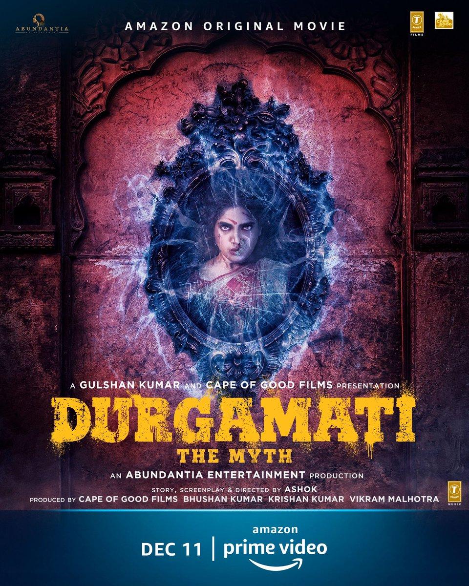 She's here to conquer. Meet #DurgamatiOnPrime on Dec 11, @PrimeVideoIN   @bhumipednekar @akshaykumar @ashokdirector2 #BhushanKumar @vikramix @TSeries @Abundantia_Ent @ArshadWarsi @Jisshusengupta @MahieGillOnline @ShikhaaSharma03 @Babitaashiwal