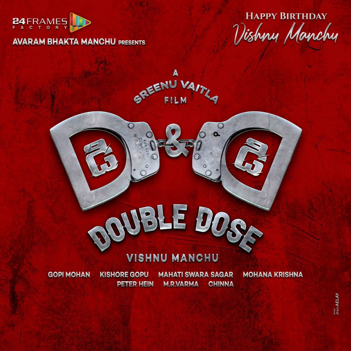Here we go again! But this time it's D&D Double Dose. Very excited to partner with my big brother Sreenu Vaitla garu again. God speed!   #DD #Doubledose