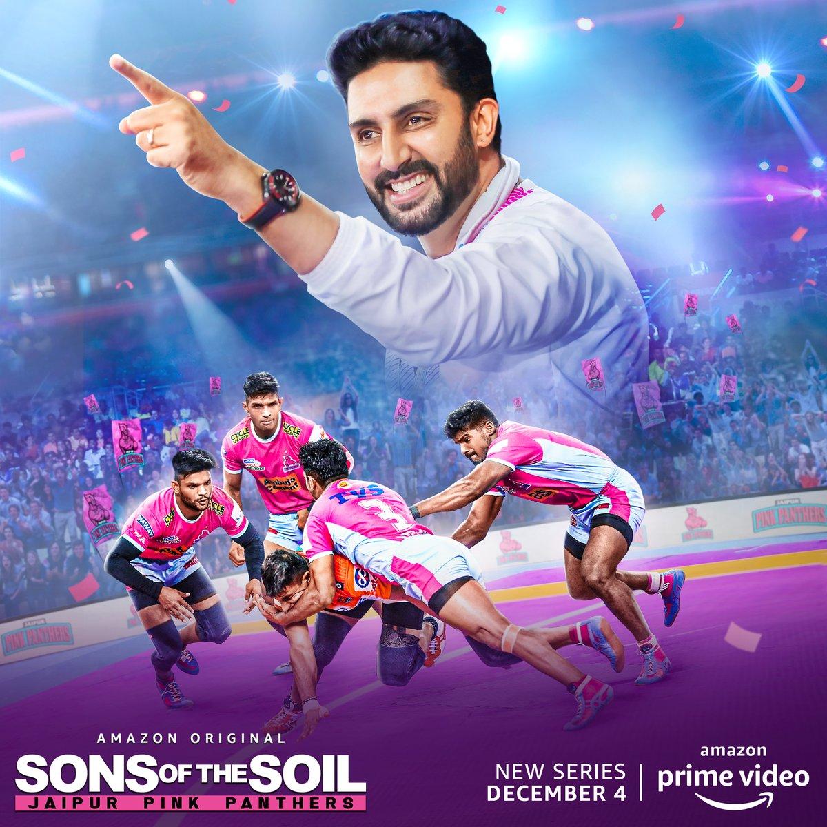 Jitne buland team ke hausle hain, utni hi yadgaar hai iss team ki kahaani. #SonsOfTheSoil Trailer Out Tomorrow, on @PrimeVideoIN   @juniorbachchan @bunty_walia @JaipurPanthers @DeepakHooda5555 @Lsrinivasreddy9 @nitinrkabaddi