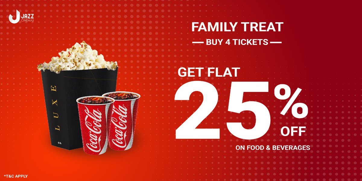 Exciting offers for regular visitors at @jazzcinemas. What are you waiting for? Head there and have fun.   Book your tickets here:   @jazzcinemas #JazzFamilyTreat #JazzHappyShow #JazzStudentStealDeal #JazzCinemas
