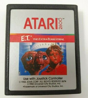 1982s E.T the Extra-Terrestrial Atari 2600 video game