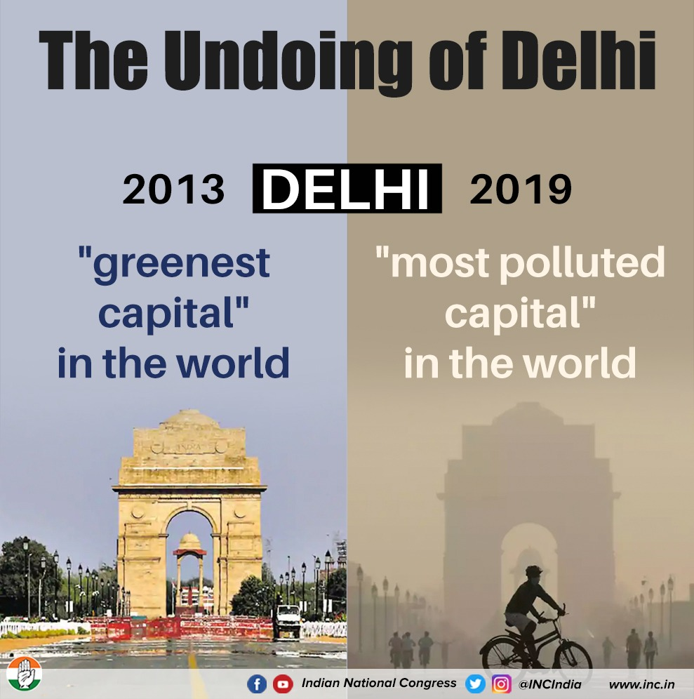 The difference: a people-centric not PR-centric Govt.  #DelhiCollapsing