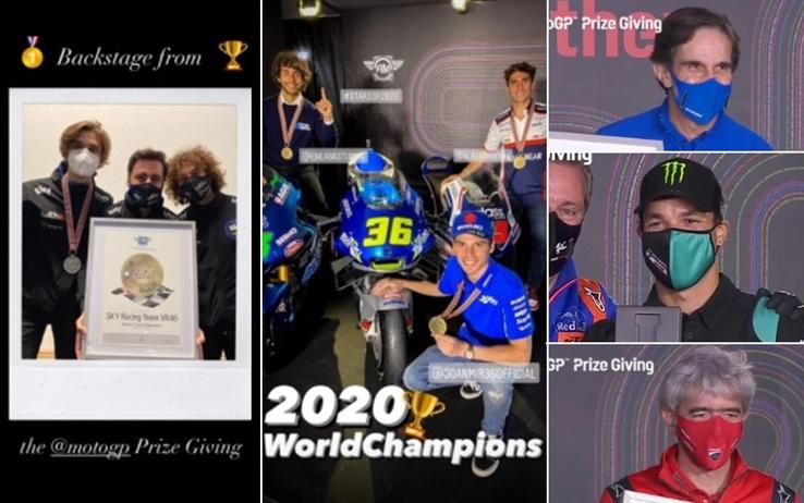 FIM MotoGP Prize Giving 2020: la premiazione dei campioni del Motomondiale. FOTO: Consegnati a Portimao i premi ai campioni del mondo delle tre classi del Motomondiale: Joan Mir (Moto Gp), Enea Bastianini (Moto 2) e Albert Arenas (Moto 3), ma tanta… https://t.co/WnG0it6Lb9 https://t.co/d1SVkbe0y7