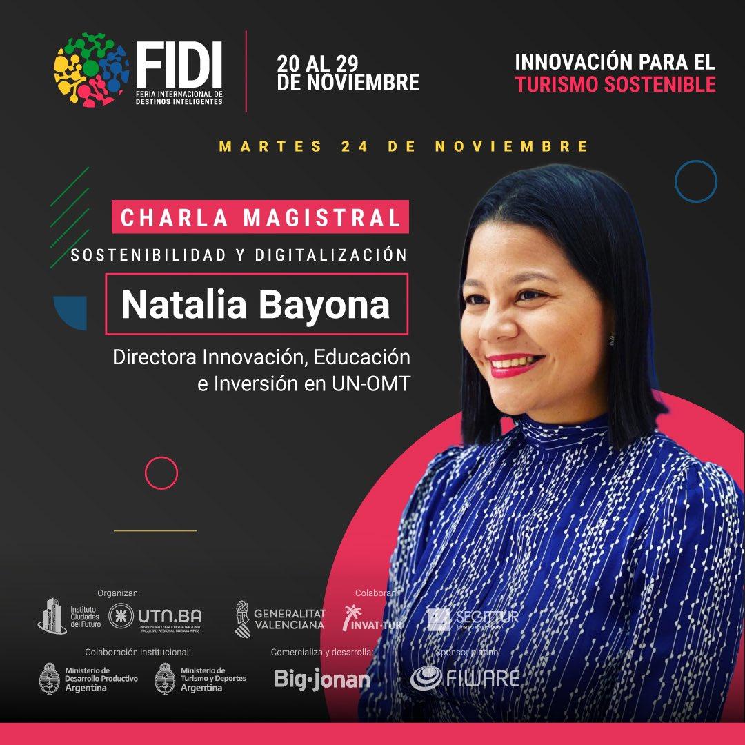 . La #innovación es el principal vehículo para un #turismo #sostenible! Acompáñame en @feriafidi en mi #keynote enfocado en #tecnologías #startups trabajando por destinos más #sostenibles #inteligentes #incluyentes en #Iberoamérica! Regístrate aquí: https://t.co/vhTlFmdqaT https://t.co/IuyNymjk5e