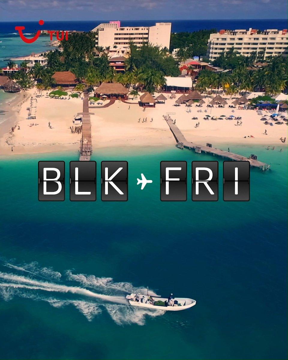 Image for the Tweet beginning: BLK-FRI: now boarding ✈️ Head
