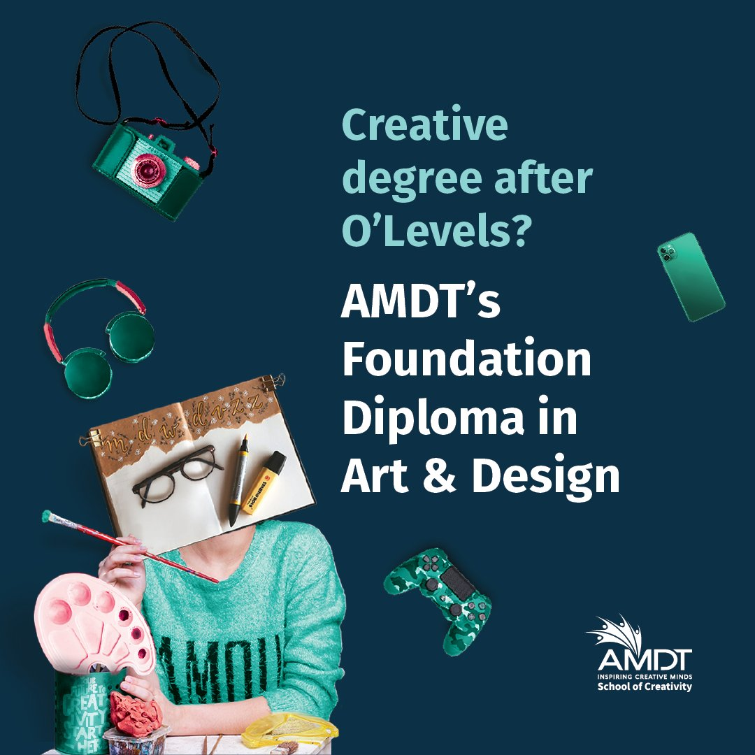After O'Level? Don't have the necessary qualifications to enter a degree programme?   Foundation Diploma in Art & Design  Call or WhatsApp +94 114381981  https://t.co/fhr9bPgoS0   #WeAreAMDT #CreativityStartsHere #Creativity #Foundation #PearsonUK #FalmouthUni #SriLanka #Maldives https://t.co/LpzWK2rljo