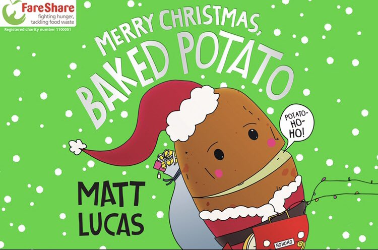Hello! My special Christmas single 'Merry Christmas, Baked Potato' is released THIS THURSDAY and all proceeds from downloads are going to support FareShare! Potato-Ho-Ho! 🥔🎄
