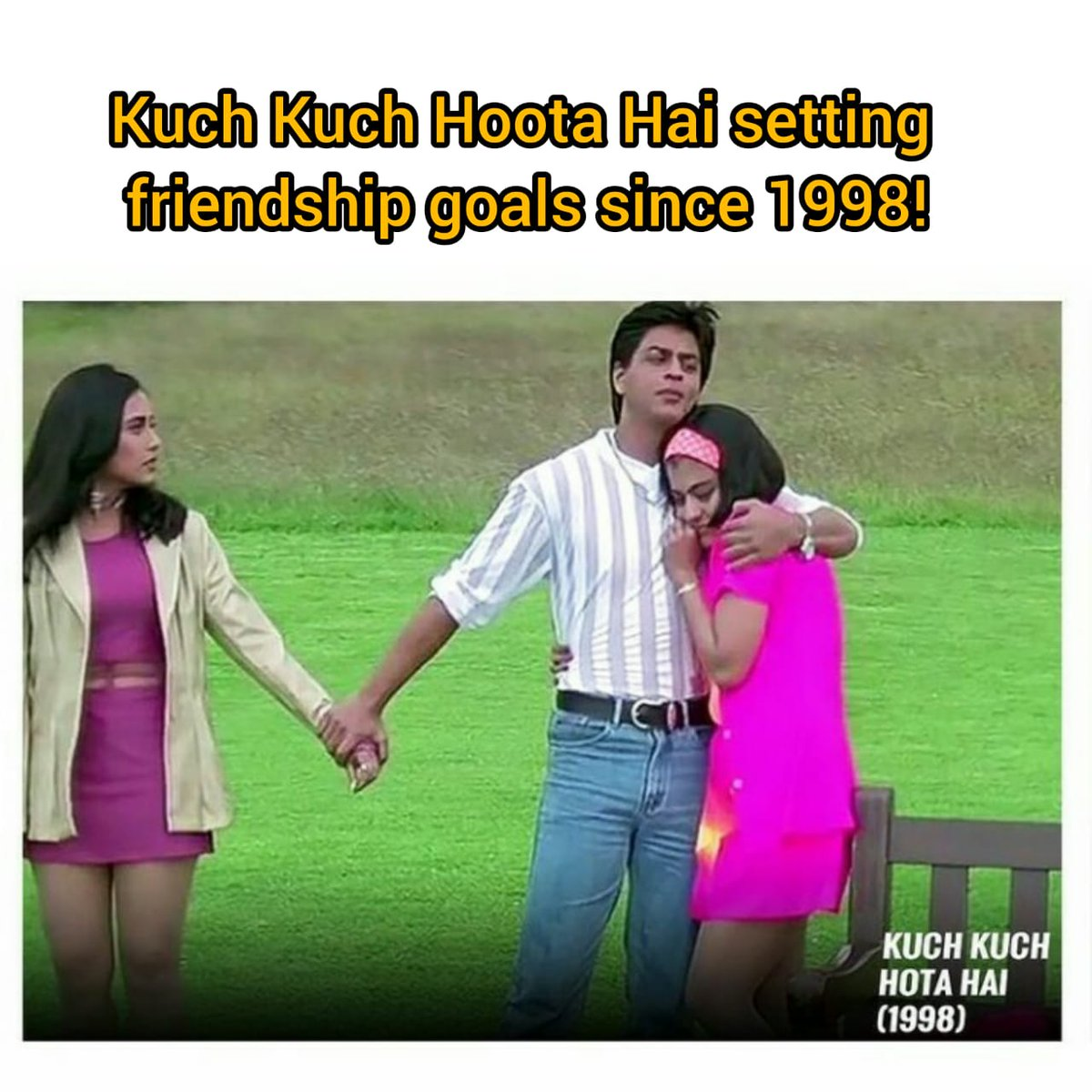 Kuch kuch hota hai since 1998!🤪 #KaranJohar #DharmaProductions #Bollywood #KuchKuchHotaHai #BestMovies #BollywoodMovies #Entertainment #BestFilmMaker #BestDirector #BestMovie #Director https://t.co/V2cJwiRpCC