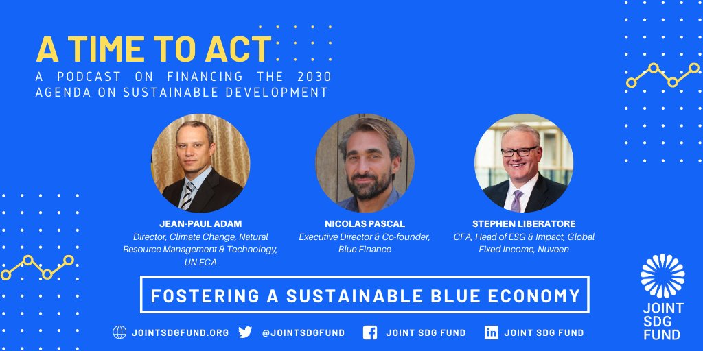Listen up🎧  You can now stream Episode 4 of #TimeToAct on #bluefinancing solutions to preserve marine resources while driving economic growth🌊  Follow this link to stream Fostering a Sustainable #BlueEconomy👉
