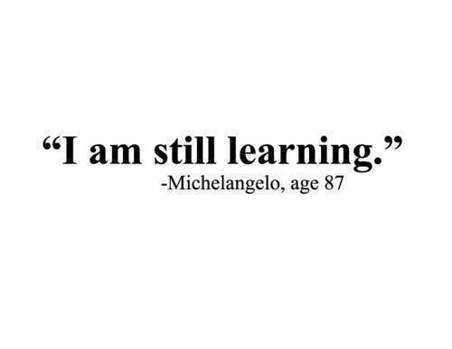 It's ok to make mistakes, it's how we learn.