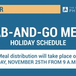 Image for the Tweet beginning: REMINDER: Grab-and-go meal distribution for