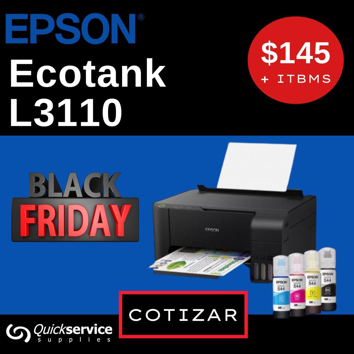 😎 Multifuncional de Sistema de Botellas de Tintas Epson Ecotank L3110 Precio: B/.145.00 + ITBMS hasta agotar #impresora #epson #panama #arraijan #lachorrera #pty #ecotank #printer