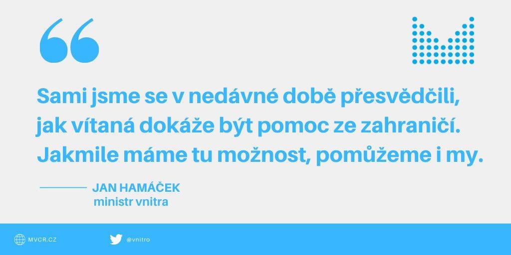 Pomoc České republiky  🇨🇿 do zahraničí  ➡️ Ze zásob Ministerstva vnitra zamíří zítra pod dohledem @hasici_cr 100 000 roušek a 43 000 rukavic do Arménie 🇦🇲, která nedávno zažádala o mezinárodní pomoc. Více zde 👉 https://t.co/xM0hloUNDS https://t.co/pAbocUkz6Z