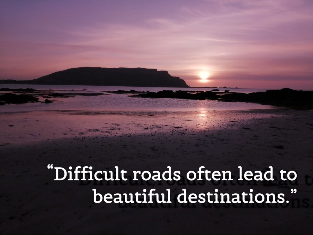 """✨ MONDAY MANTRA ✨ """"Difficult roads often lead to beautiful destinations."""" 📸 by Geraldine Diver"""