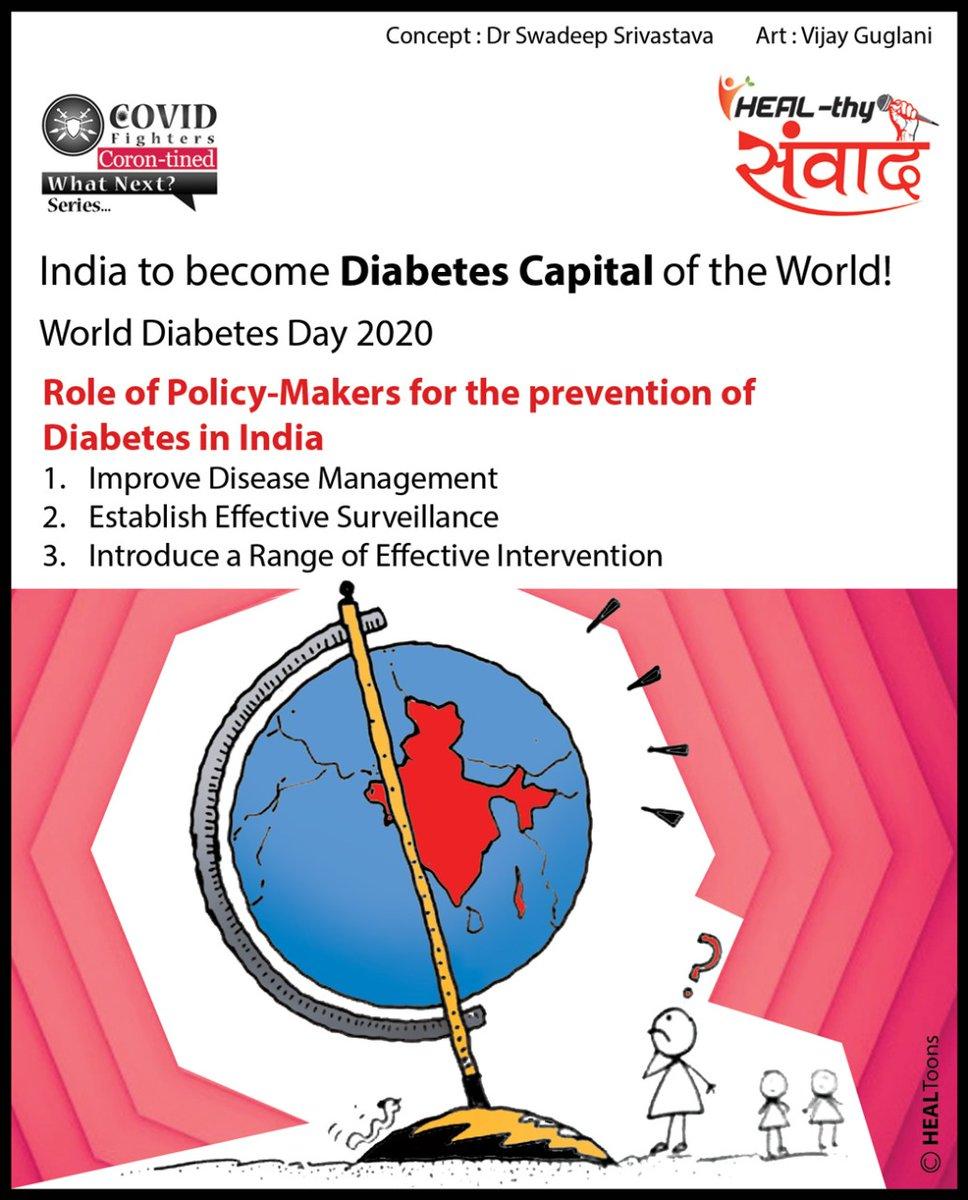 India is turning towards Diabetes capital of the world. Govt. needs to intervene to curb its lengthening curve.  Join us:     #covidfighters #healthysamvaad #healhealth #unitetofightcorona #fightdiabetes
