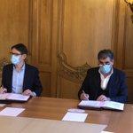 Image for the Tweet beginning: Signature entre la Chambre des