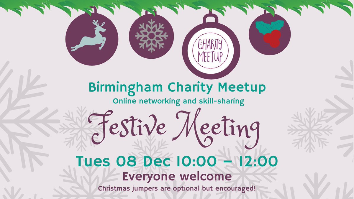 Evening @MidlandsHour I'm late tonight because I've been to a virtual party 🥳 but if we have any charities on it would be fab to see you at the next Meetup 😊#MidlandsHour https://t.co/83j5kETj4p