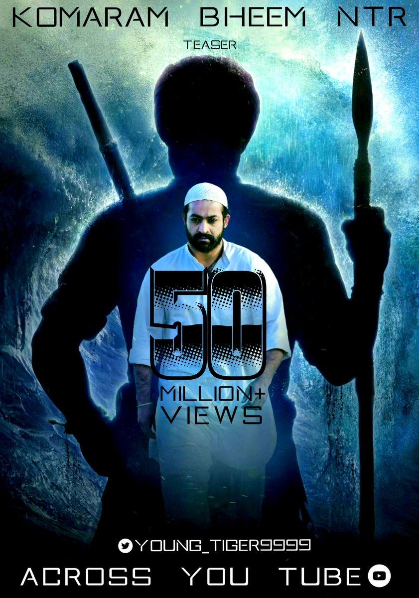 #RamarajuForBheem Hits 5️⃣0️⃣ Million + Views Across @YouTube  Here's The 📎 Of All Languages:    🤩🤩 @RRRMovie @ssrajamouli @tarak9999 @AlwaysRamCharan  @ajaydevgn @aliaa08 @OliviaMorris891 @DVVMovies  @mmkeeravaani  #KomaramBheemNTR  #SeethaRAMaRajuCHARAN