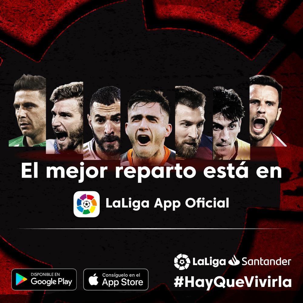 🌟⚽ Toda la acción de #LaLigaSantander y #LaLigaSmartBank en tu móvil.  📲 Descarga ya la App Oficial de LaLiga:    #HayQueVivirla