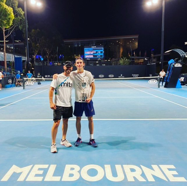 2020 started well then COVID hit. Sad to see the junior @australianopen canceled in 2021. Great memories and a great event on the calendar. @ionelnicholasdavid @LiyanageShane #grandslam #winner #2020 https://t.co/OF2rBcZVIM