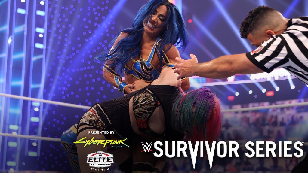 .@SashaBanksWWE was READY for @WWEAsuka at #SurvivorSeries!   https://t.co/jNXqqRHUwM https://t.co/pV9W6cLmUC