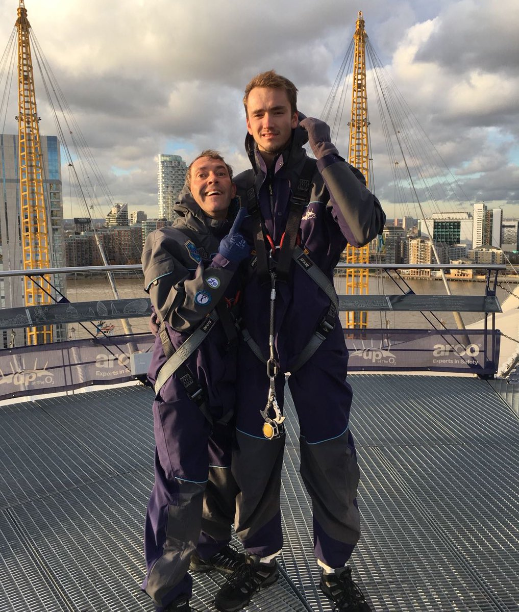 From the roof of The O2 to the top of the world 🏆  It has been a incredible journey @DaniilMedwed ❤️ #FightSmart https://t.co/loSOP1OcDc