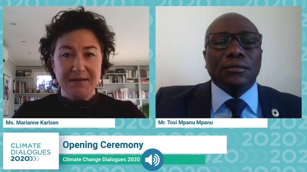 The innovative features of the virtual UNFCCC #ClimateDialogues  bring us closer to the experience of real @UN climate conference, say the SB Chairs @tosimm and @MarianneKarlse5 - watch here: